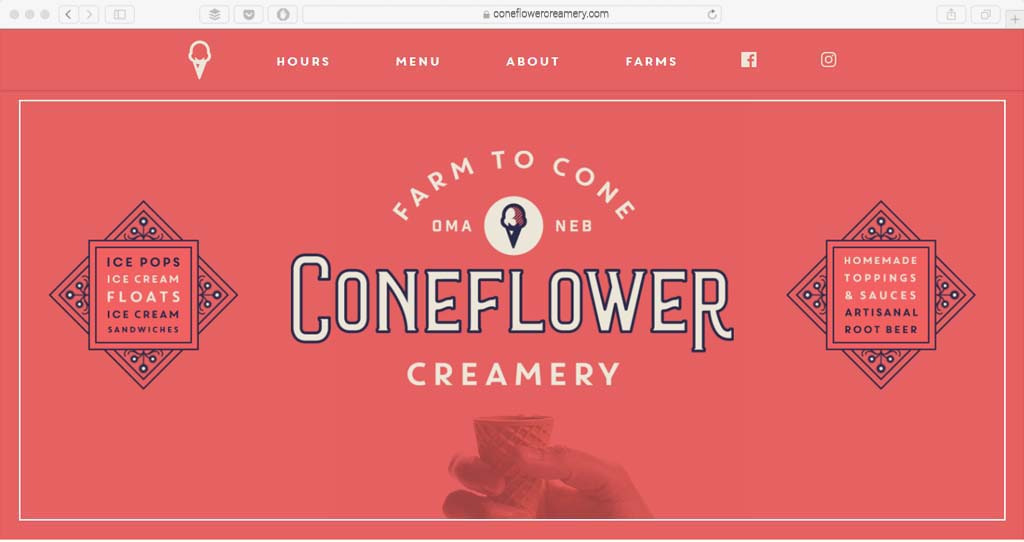 Coneflower Example Custom Typography