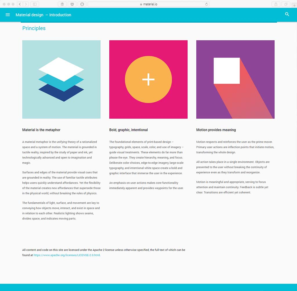 Material Design latest web design trend