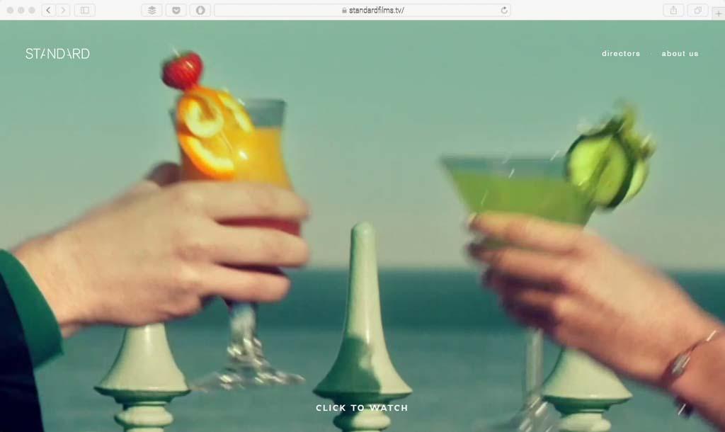 standardfilms.tv Example full screen video web design