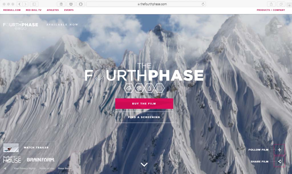 thefourthphase.com Example full screen video web design