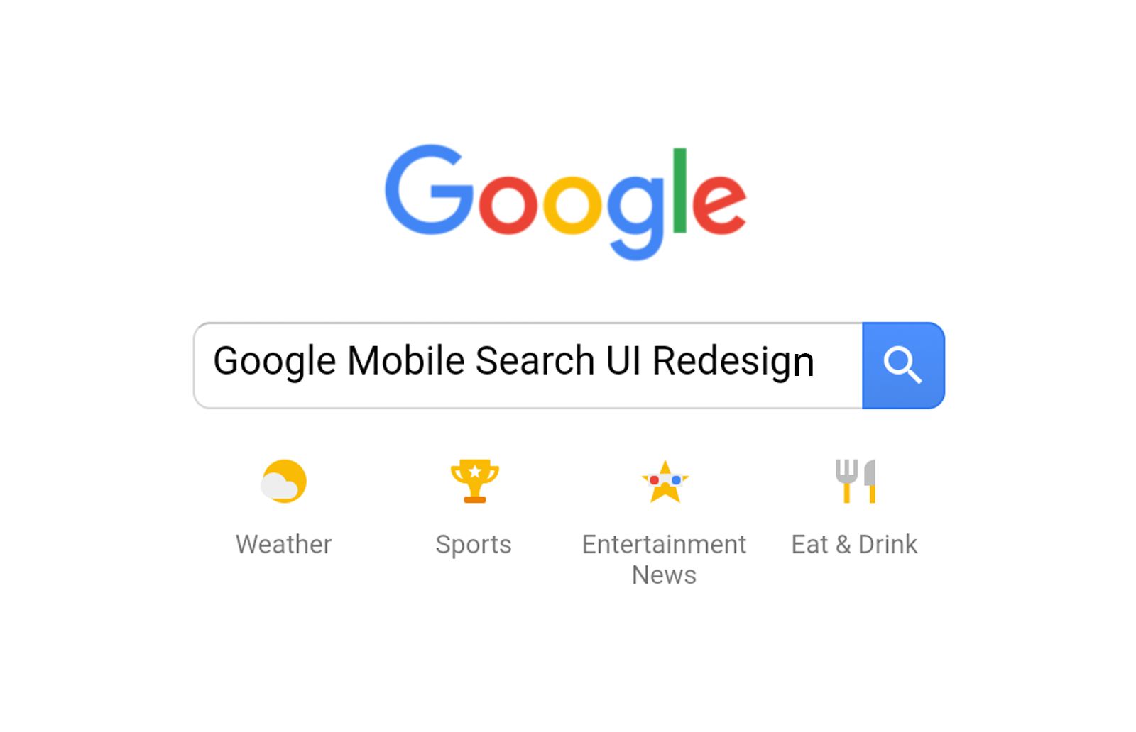 Google's Mobile Site Search UI Redesign