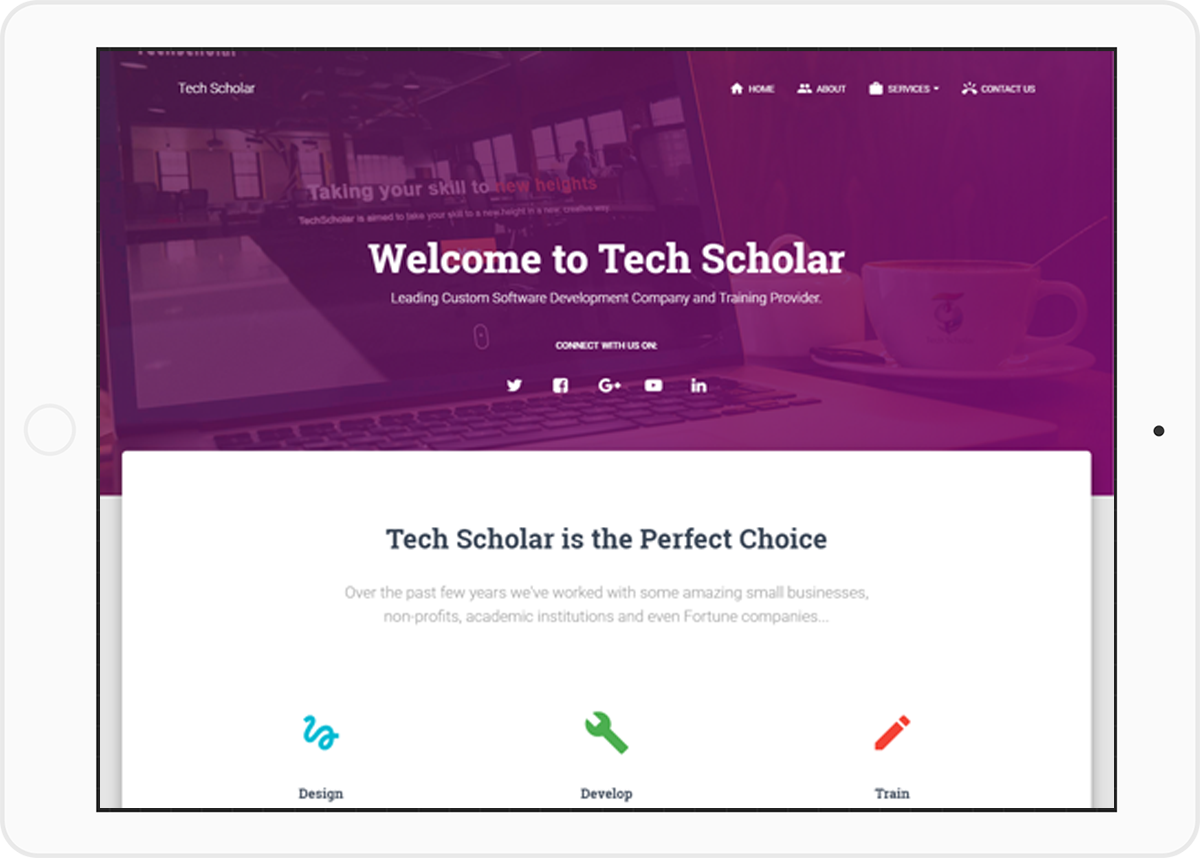 Web Design Service at Tech Scholar